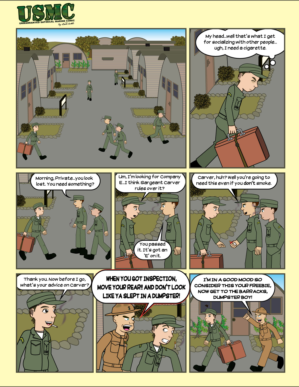 The first page of the comic.