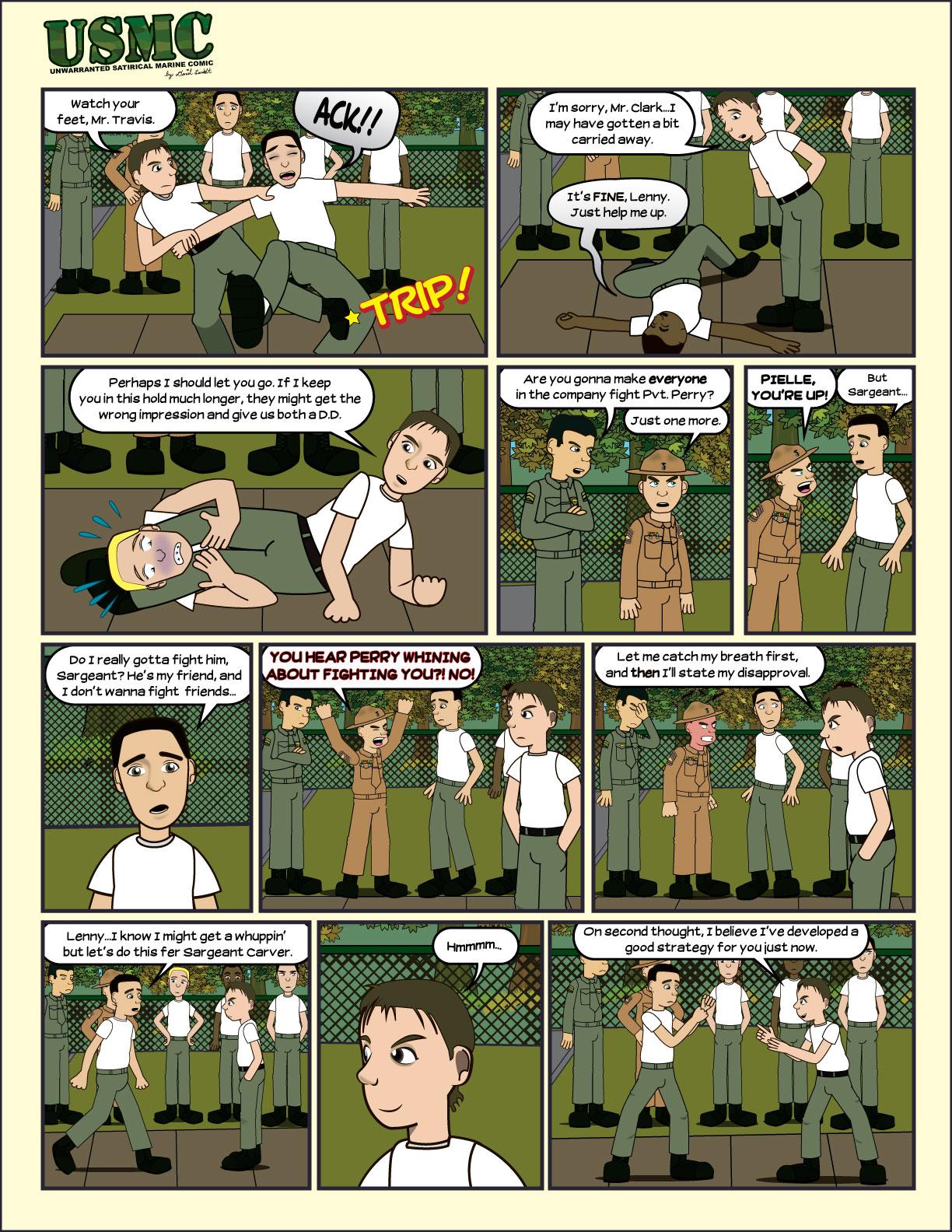Page 6 of the comic USMC